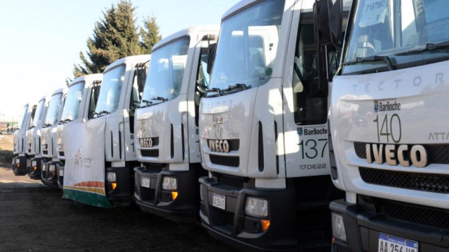 Camiones recolectores de Bariloche. Foto: archivo