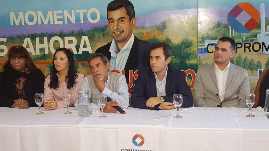 El candidato brindó hoy una conferencia de prensa para presentar la lista de concejales. (Foto: Andrea Vázquez)