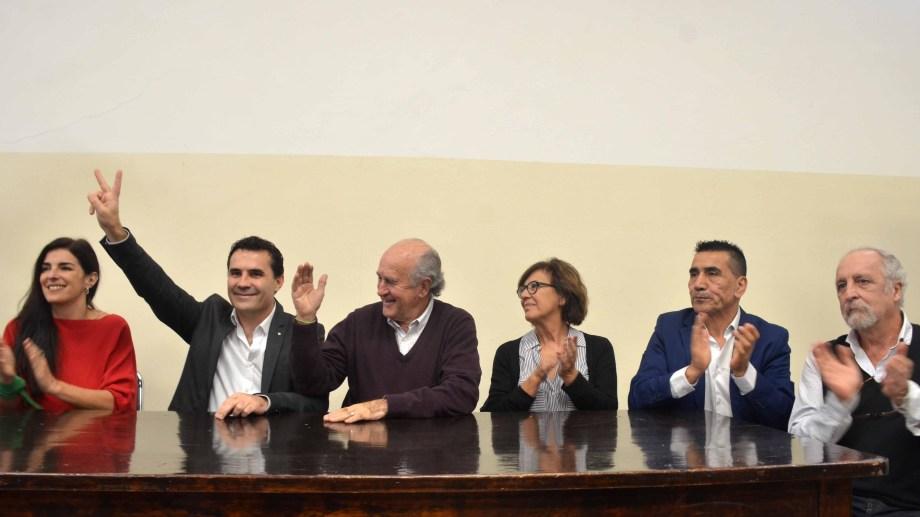 Los candidatos del Frente de Todos se presentaron el sábado en conferencia de prensa. Foto: archivo.