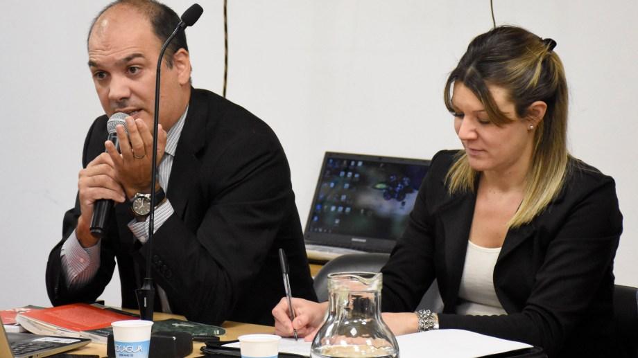Márquez Gauna y Camporesi, los fiscales, durante el juicio oral. (Foto Florencia Salto)