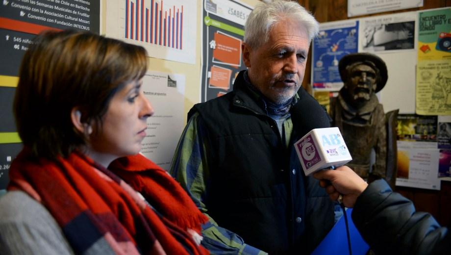 El presidente de la comisión directiva de la Biblioteca Sarmiento, Gonzalo de Estrada. Foto: Alfredo Leiva