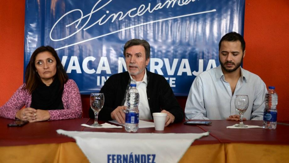 Fernando Vaca Narvaja en la presentación de su candidatura un mes atrás. (Archivo)