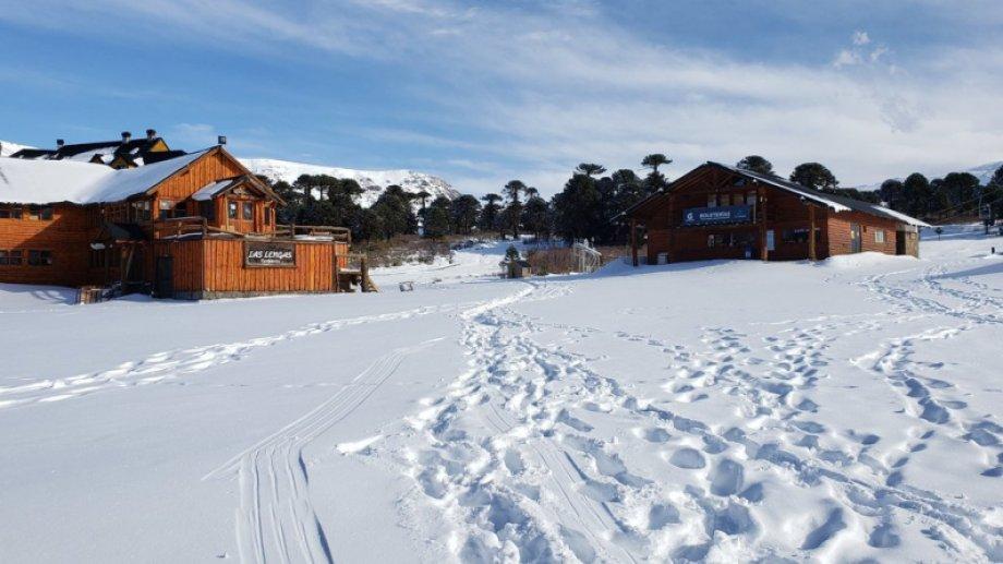 El centro de Ski de Caviahue Foto: Twitter @valecaviahue