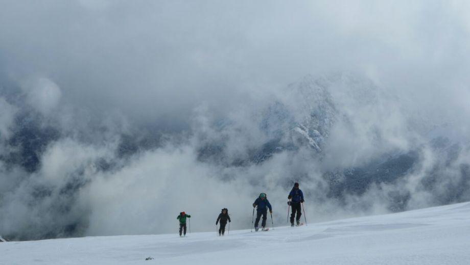 Se registra un crecimiento de la práctica de esquí de travesía. Foto: gentileza