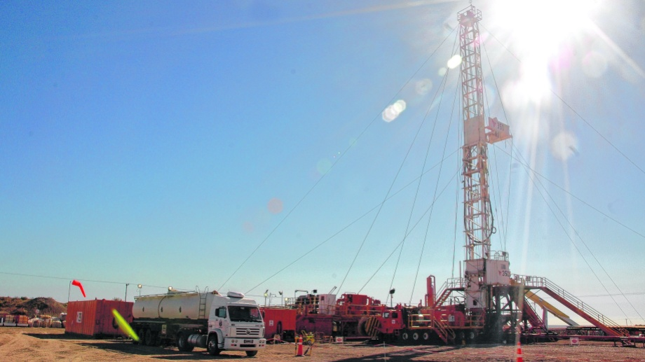 Entre Lomas, uno de los principales yacimientos de petróleo de la provincia de Río Negro.