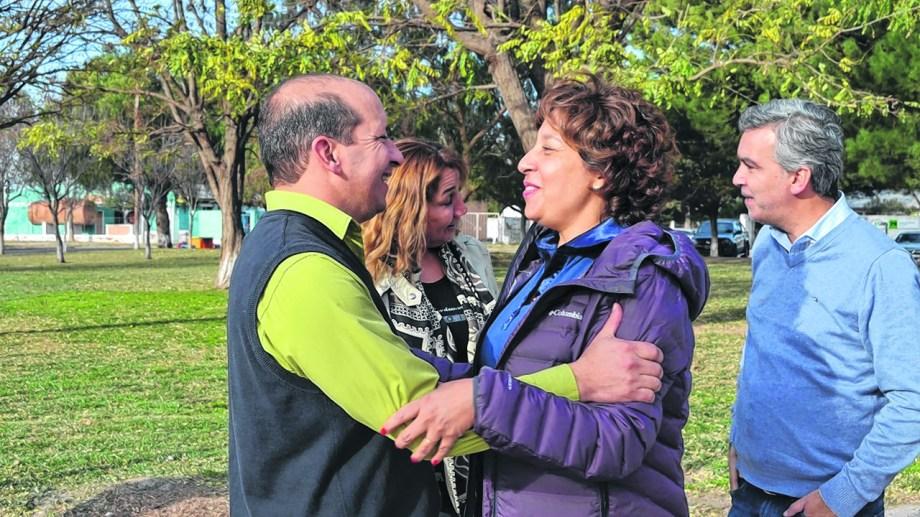 En campaña, Carreras focalizada en los comisionados. Fue a San Javier por Javier Garavaglia. Foto: Gentileza