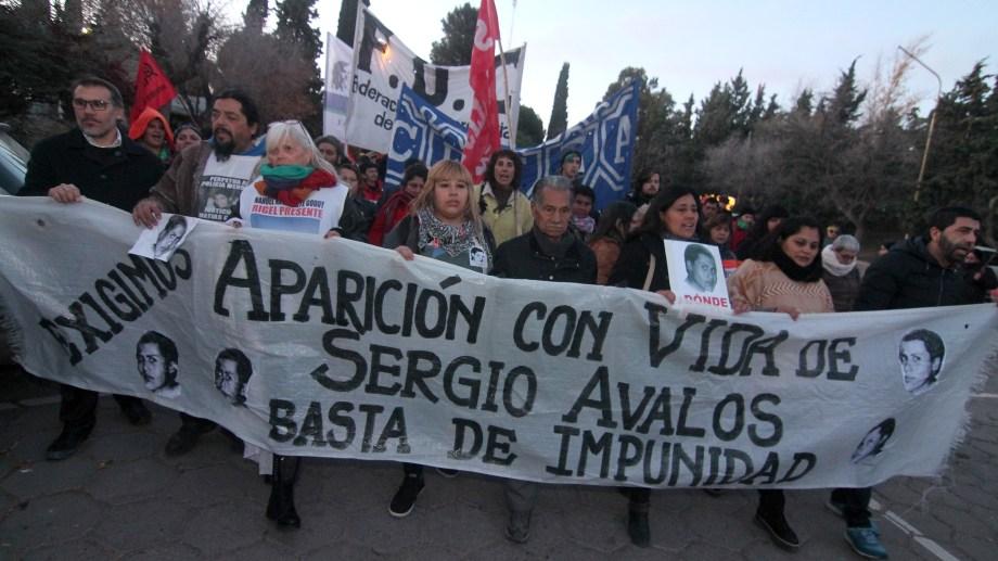 Por la pandemia no se realizará marcha, pero hay una actividad virtual para exigir justicia a 18 años de la desaparición de Sergio Ávalos. (Foto: Archivo.-)