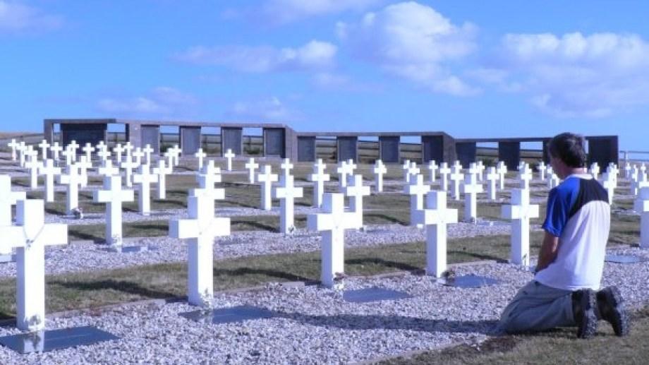 El cementerio de Darwin donde fueron exhumados los soldados.
