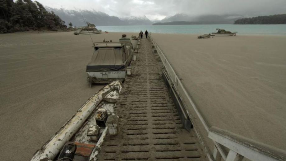 El muelle de Bahía Brava en Villa la Angostura en junio de 2011. (Foto Archivo Chino Leiva)