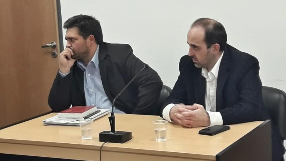 El fiscal Sergio Pichetto (a la izquierda) sostuvo la acusación, con el fiscal adjunto Gerardo Miranda. (Archivo)