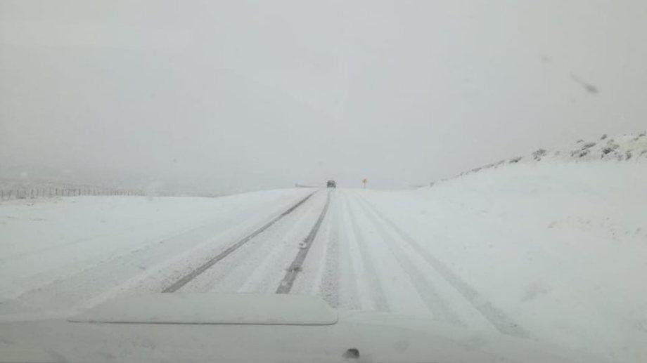 Ruta Nacional 23 nevada. Archivo