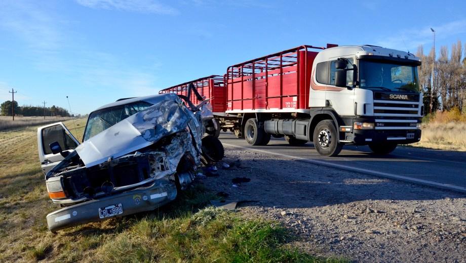 El accidente ocurrió en el kilómetro 972 del la ruta nacional N°3. Foto: Marcelo Ochoa