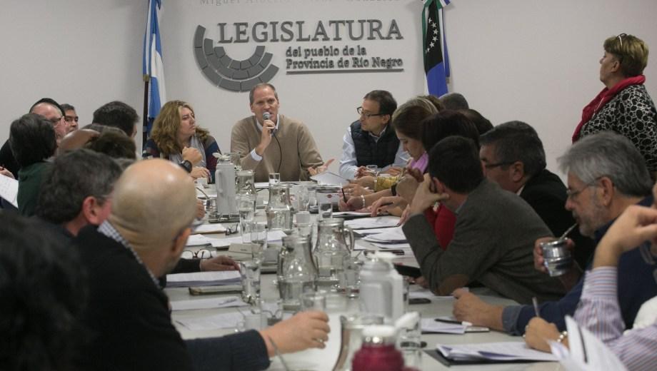 En el Plenario, el oficialismo avanzó para cumplir con la retención plena en los sueldos aún no alcanzados.  Foto: Pablo Leguizamon