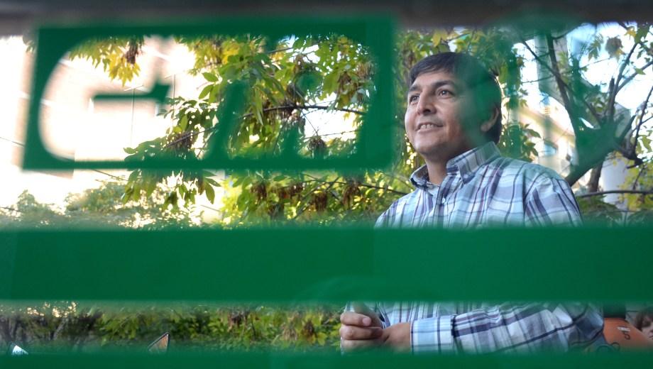 El titular de ATE Neuquén, Carlos Quintriqueo . Foto: archivo Mauro Pérez