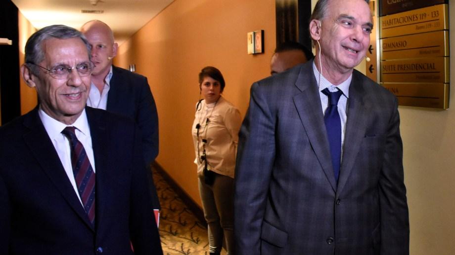 Quiroga y Pichetto en el coloquio IDEA el dis después de que se anunciara  la fórmula presidencial Macri - Pichetto. Foto: Archivo Florencia Salto