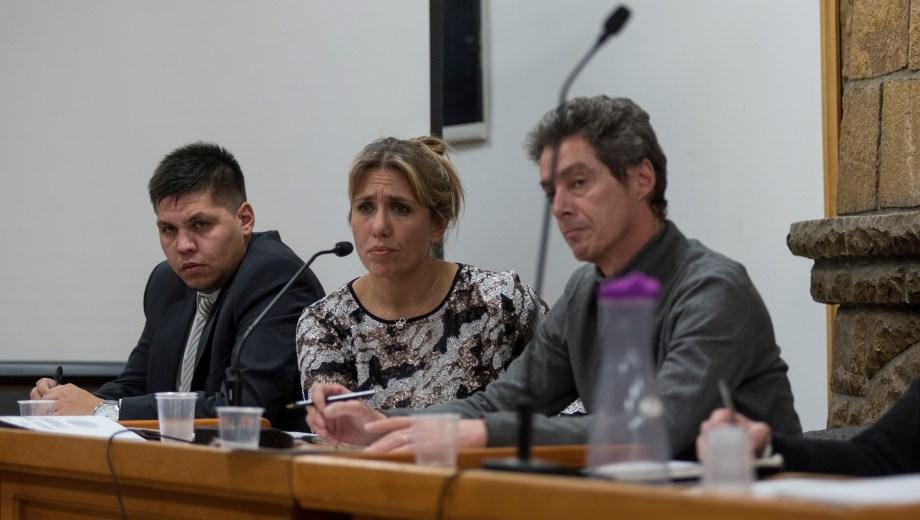 Los fiscales del caso en la audiencia por el caso de la muerte del bebé. Foto: Marcelo Martinez