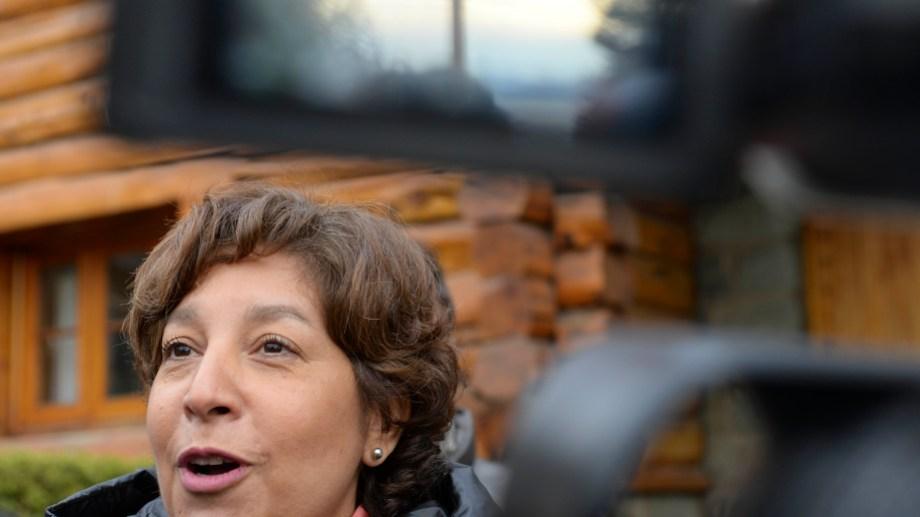 La gobernadora electa Arabela Carreras, esta mañana en el Centro Cívico. Foto: Alfredo Leiva