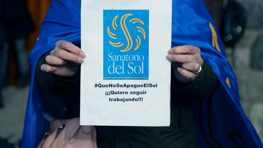 Los trabajadores del sanatorio del Sol llevan 70 días con reclamos. (Foto: Alfredo Leiva)