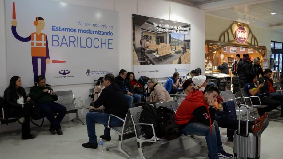 El aeropuerto de Bariloche, en obra desde marzo. Foto: Alfredo Leiva