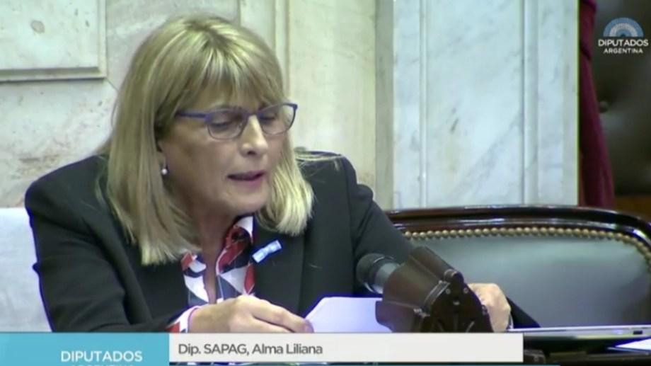 La legisladora del MPN Alma Sapag. Foto: Archivo.