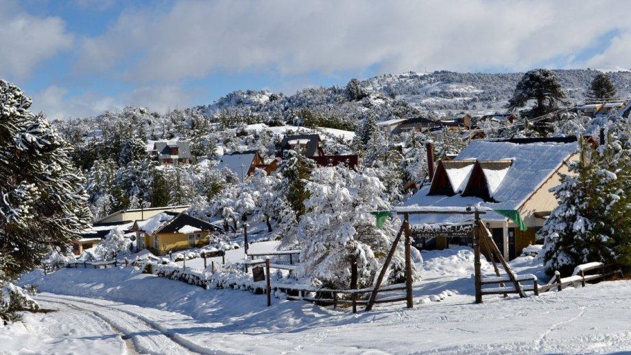 La localidad de  Villa Pehuenia. Foto: Twitter @vpehuenia