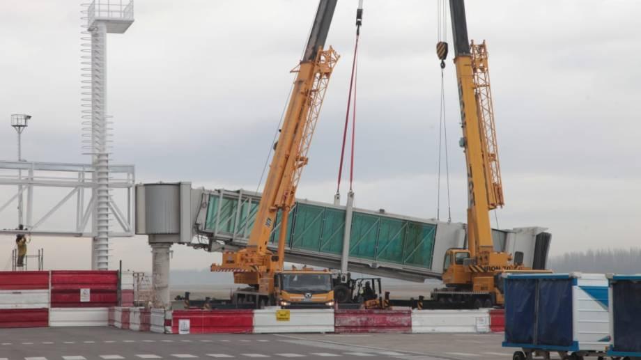 Los avances de las obras en el aeropuerto.  Foto: Twitter: @OmarGutierrezOk