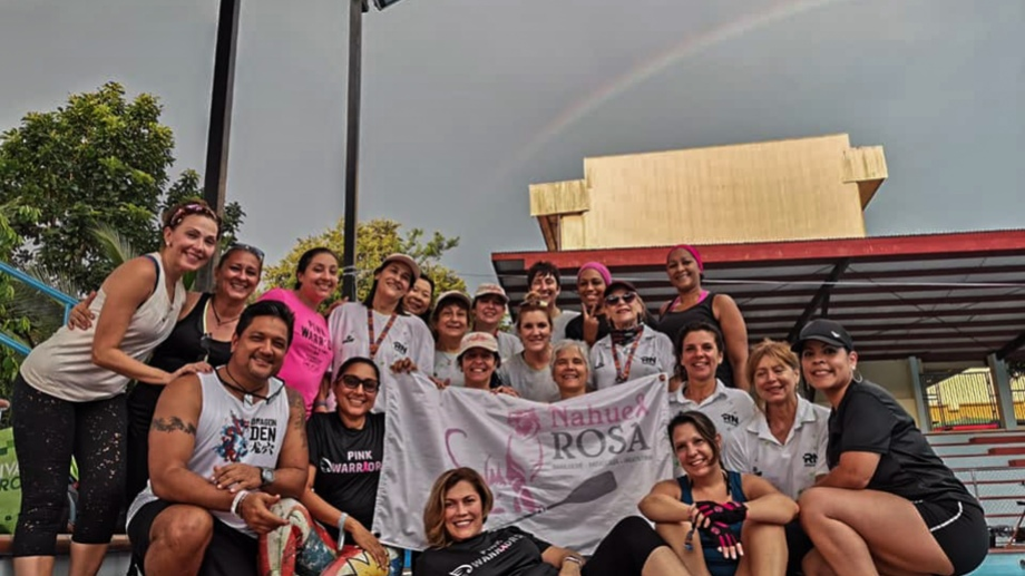 El grupo de Nahuel Rosa festeja en Panamá. (gentileza)