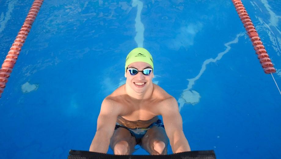 El nadador se prepara de cara a su segunda participación en un Juego Panamericano. (Foto: Florencia Salto)