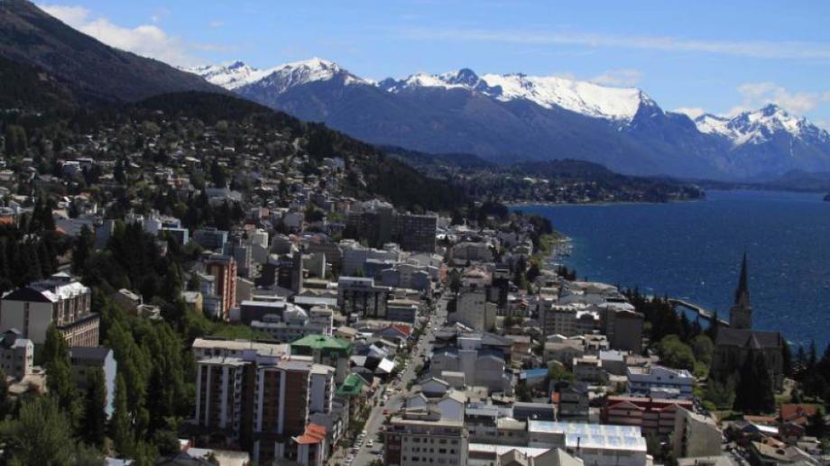 Bariloche vista aerea ciudad