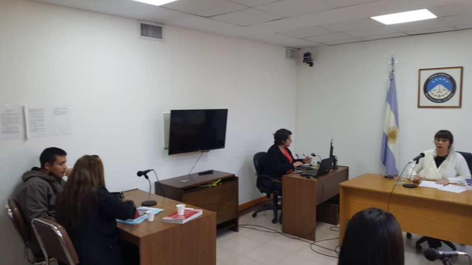 La audiencia de formulación de cargos se realizó hoy. (Foto Andrea Vázquez)