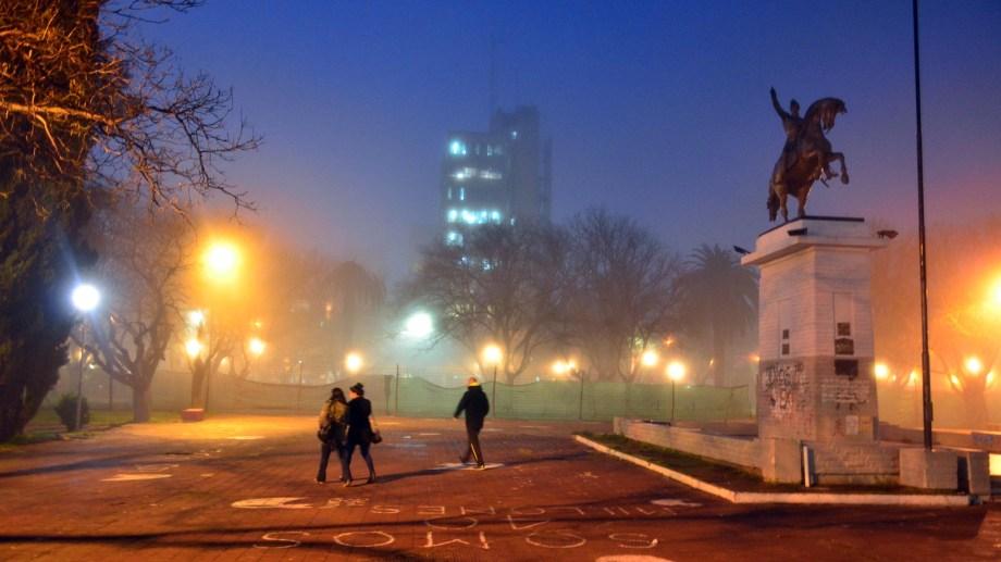 La Comarca amaneció con una densa niebla. Foto  : Marcelo Ochoa