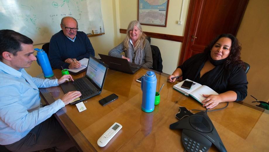 En la reunión paritaria que se realizo en el ministerio de Economía estuve presente ATE pero no así UPCN Foto : Marcelo Ochoa