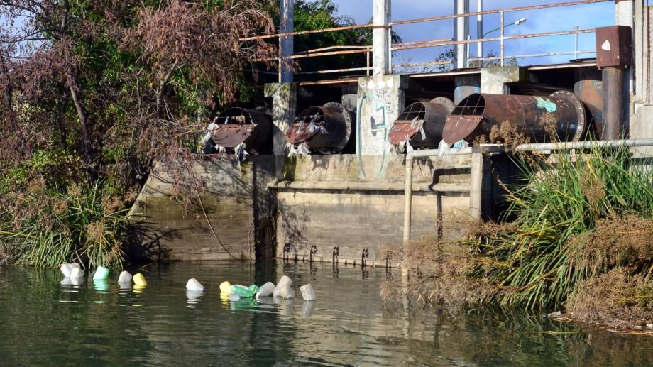 La Municipalidad de Viedma no instaló las rejas para evitar que la basura llegue al río. Foto: Marcelo Ochoa