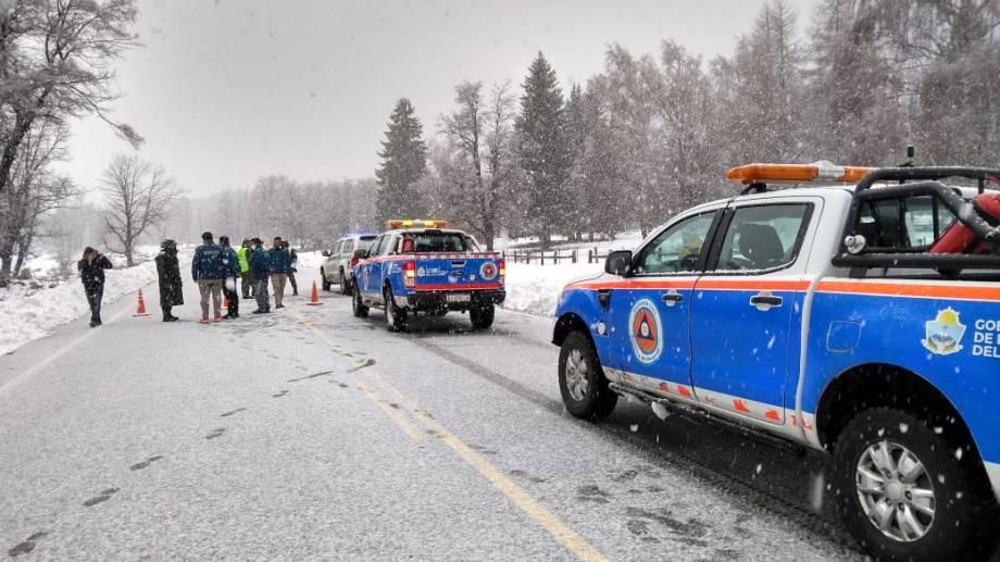"""En la provincia de Neuquén se despliega el """"Operativo Nieve"""" en la temporada invernal para reforzar la seguridad vial. (Gentileza).-"""