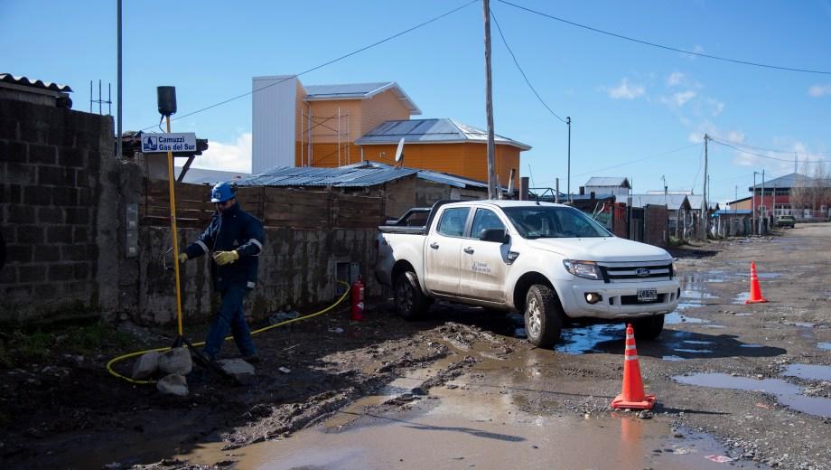 Habilitaron la red de gas para 20 familias del barrio Argentino. Foto: Marcelo Martinez
