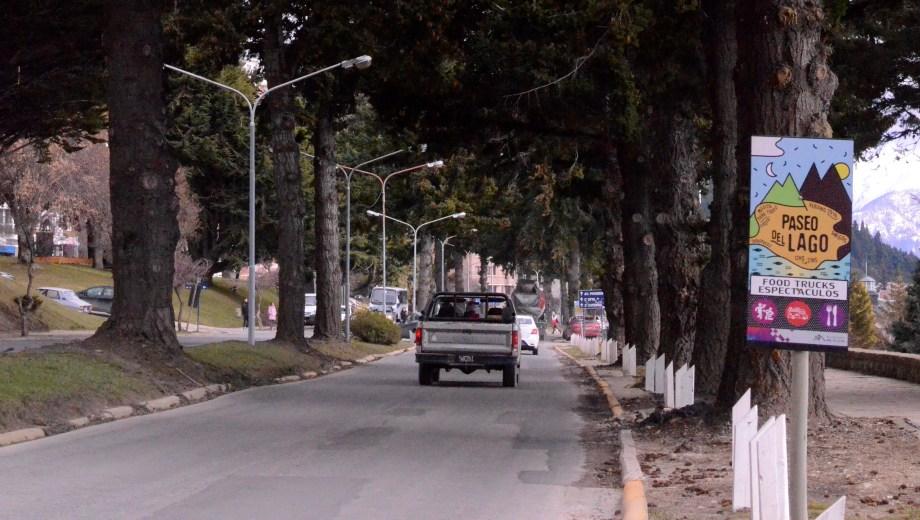 La Costanera de Bariloche tendrá desvios de tránsito por varios meses. (Foto: Alfredo Leiva)