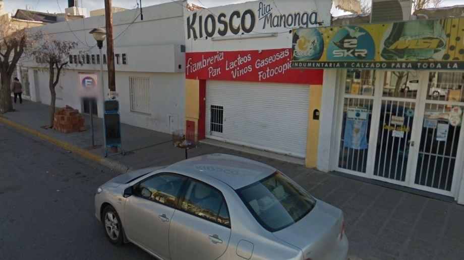 El kiosco que fue blanco de un robo se ubica al lado del Concejo Deliberante. (Captura).-
