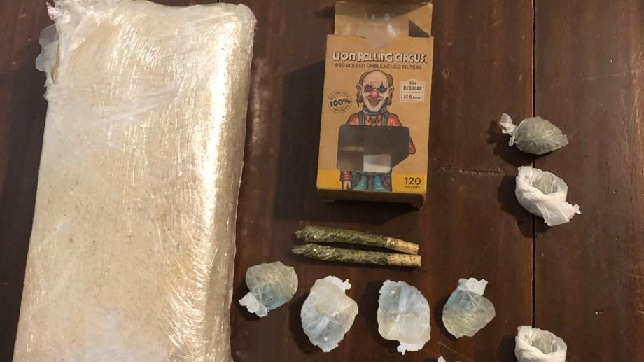 Los gendarmes secuestraron más de mil dosis de marihuana. Foto: gentileza
