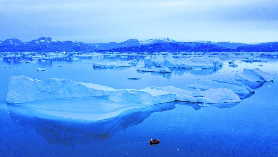 Helada y en peligro. Un paisaje de la gélida y ahora disputada Groenlandia.
