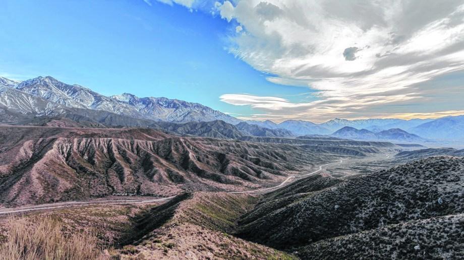 Entre Tupungato y Potrerillos (Mendoza) por la Ruta Provincial 89.