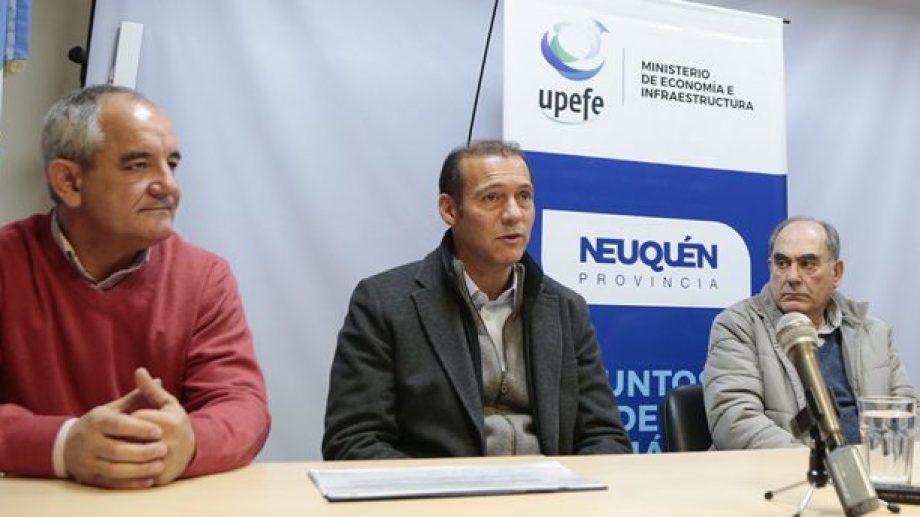 El gobernador Omar Gutiérrez adelantó que la Escuela 194 será una de las primeras obras que inaugurará en su próxima gestión. (Gentileza).-