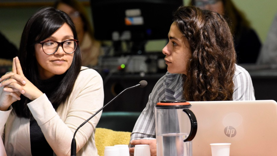 Natalia Hormazábal y Mariana Derni, querellantes del Ceprdh foto Cecilia Maletti)