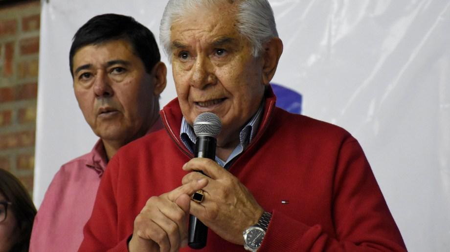 La semana pasada, Pereyra encabezó una asamblea de petroleros. Foto Florencia Salto.