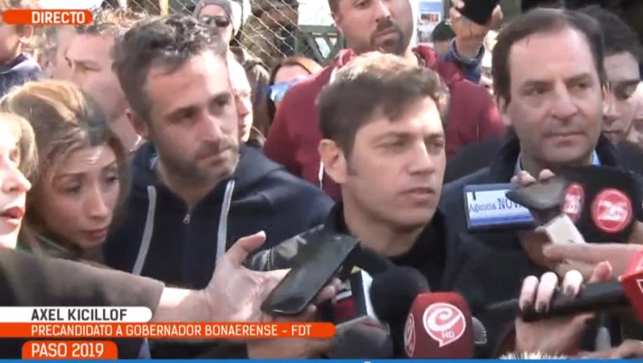 Así habló Axel Kicillof luego de votar. Imagen: captura de TV.