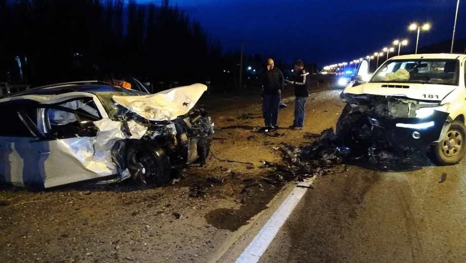 En ambos vehículos se activó el airbag (Foto: Gentileza)