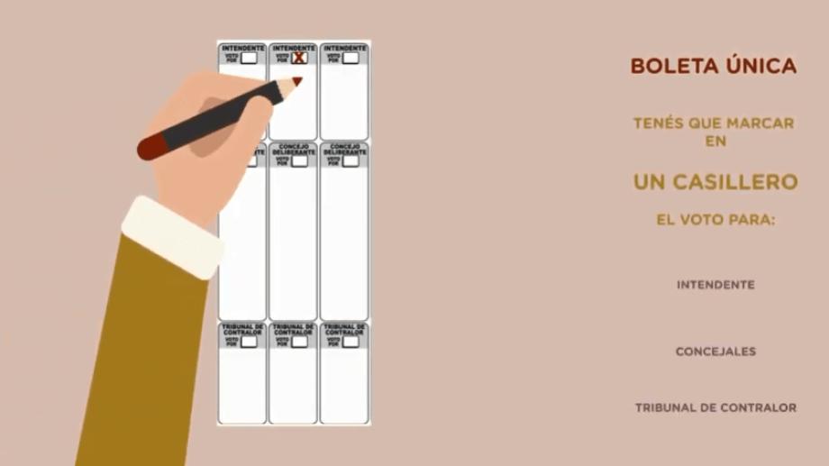En la boleta única de Bariloche se debe optar la preferencia en cada tramo de autoridades.