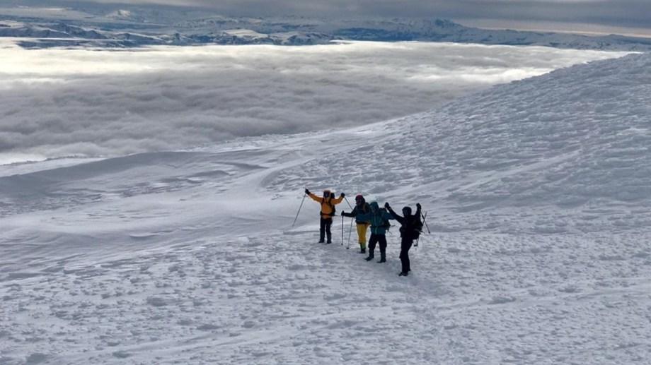 Una de las fotografías que los escaladores enviaron al Parque Lanín. Foto Parque Nacional Lanín