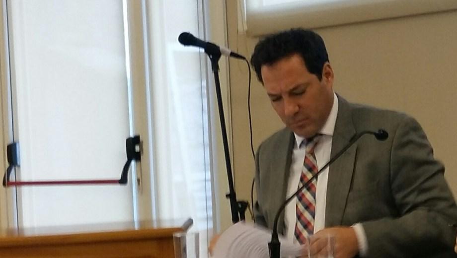 El fiscal Martín Govetto formuló cargos por violencia de género. (Gentileza)