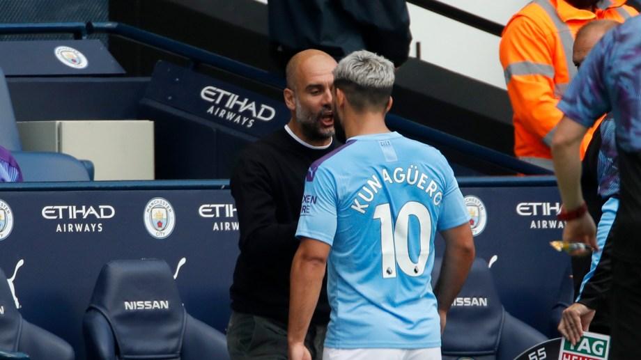 Guardiola y el Kun discutieron cuando el entrenador decidió sustituirlo.