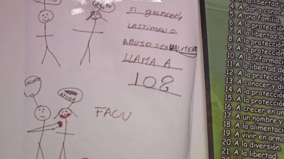 102 es el número al cual pedir ayuda en caso de abuso o maltrato infantil.  Foto: Archivo Florencia Salto.-